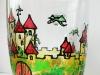 кружка с драконами витражными красками