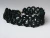 вязаное колье с натуральными камнями.  3 фото.